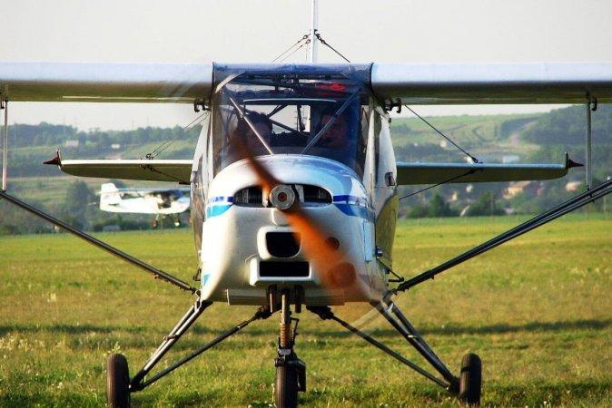 Полет на самолете Т10 в Харькове
