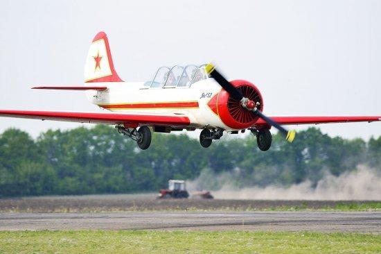 Полет на самолете ЯК 52 в Житомире