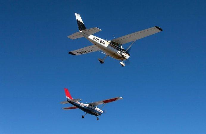 Парный полет на самолете Cessna