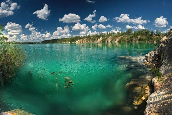 Экскурсионный полет над Голубым озером в Днепре