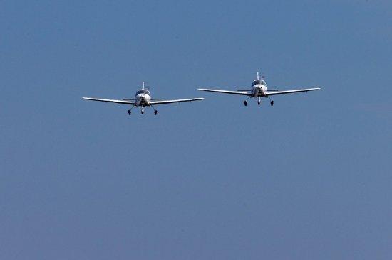 Парный полет на самолете Grumman