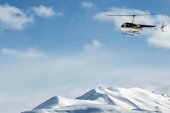 Полет на вертолете над Говерлой