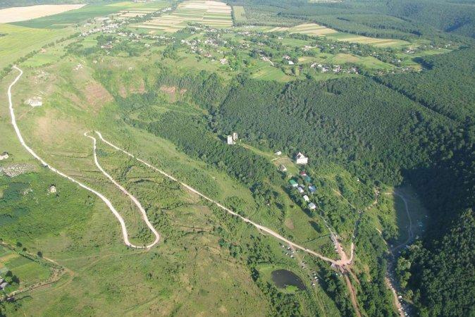 Полет над Днестровским каньоном мотодельтаплан