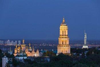 Ночной полет над Киевом на самолете Cessna