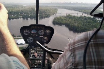 Полет на вертолете Robinson R44 в группе