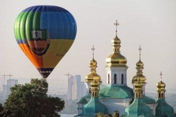 Політ на повітряній кулі над Києвом