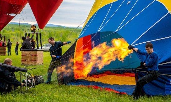 Полет на воздушном шаре в Тернополе