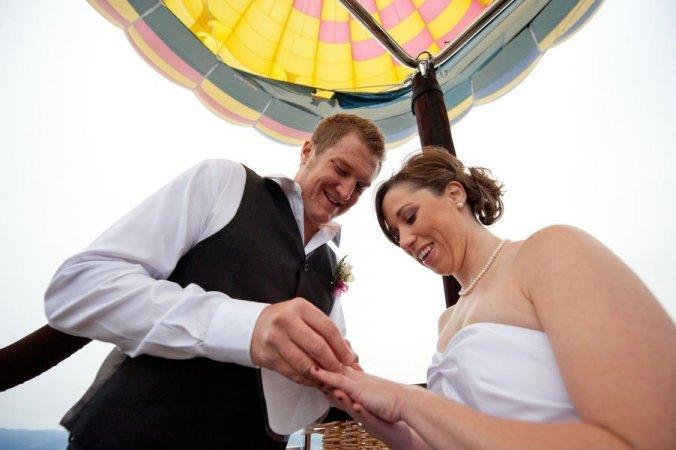 Свадебный полет на воздушном шаре