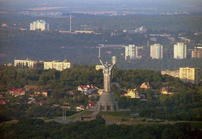 Полет на самолете Пайпер над Киевом