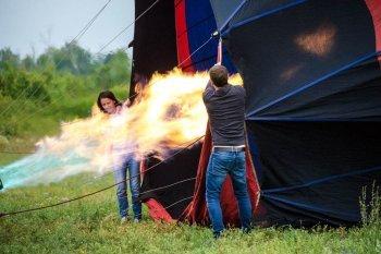 Полет на воздушном шаре за Киевом в группе