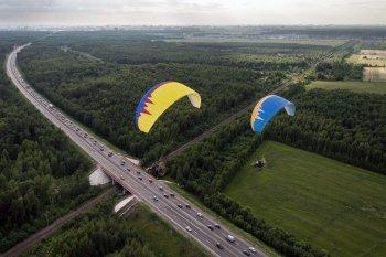 Полет на паратрайке в Тернополе