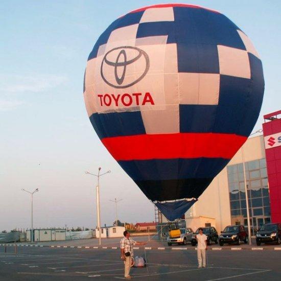 Воздушный шар с рекламным баннером