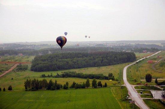 Полет на воздушном шаре за Киевом