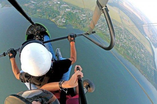Полет на мотодельтаплане в Запорожье